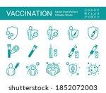 vaccine icon set. 64x64 pixel...   Shutterstock .eps vector #1852072003