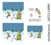 find 6 differences. educational ... | Shutterstock . vector #1852113889