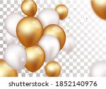 celebration banner with gold...   Shutterstock . vector #1852140976