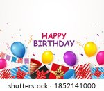 birthday and celebration banner ... | Shutterstock . vector #1852141000