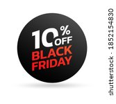 black friday sale icon  sticker ... | Shutterstock .eps vector #1852154830