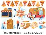 pizza food business set of... | Shutterstock .eps vector #1852172203