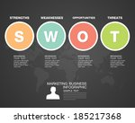 swot business infographic | Shutterstock .eps vector #185217368