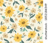 Sunflower Seamless Pattern....