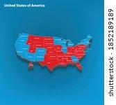 us presidential election 2020... | Shutterstock .eps vector #1852189189