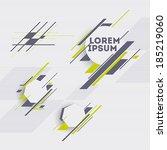 labels vector set  modern style.... | Shutterstock .eps vector #185219060