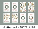 set of different christmas... | Shutterstock .eps vector #1852214170