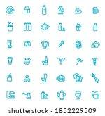 147 drinks thin vector icon set   Shutterstock .eps vector #1852229509