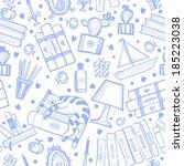seamless pattern | Shutterstock .eps vector #185223038