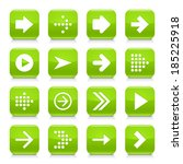 16 arrow icon set 01. white... | Shutterstock .eps vector #185225918