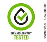 dermatologically tested vector...   Shutterstock .eps vector #1852306309