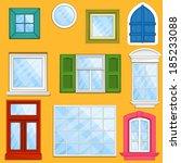 set of vector windows | Shutterstock .eps vector #185233088