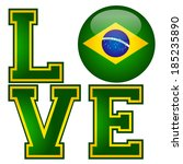 i love brazil    suitable for... | Shutterstock .eps vector #185235890
