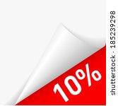 10 percent discount under... | Shutterstock .eps vector #185239298