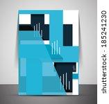 cmyk business corporate flyer... | Shutterstock . vector #185241230