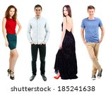 collage of fashion models... | Shutterstock . vector #185241638