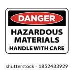 danger hazardous materials ... | Shutterstock .eps vector #1852433929