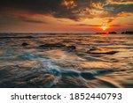 Beautiful Seascape. Sunset...