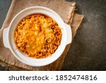 Spicy Instant Noodle Bowl With...