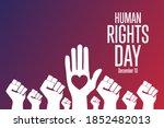 human rights day. december 10....   Shutterstock .eps vector #1852482013