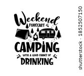 weekend forecast camping with a ...   Shutterstock .eps vector #1852507150