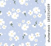flat style white daisy flower...   Shutterstock .eps vector #1852514359