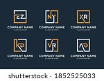 set of initial logo with letter ... | Shutterstock .eps vector #1852525033