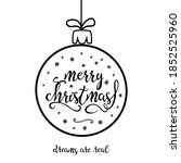 christmas bauble with contour... | Shutterstock .eps vector #1852525960