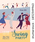 colorful poster for swing party ... | Shutterstock .eps vector #1852549963