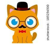 Vector Adorable Cartoon Cat...