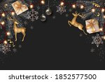 merry christmas and happy new... | Shutterstock . vector #1852577500