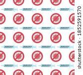 seamless pattern of vaccine ... | Shutterstock .eps vector #1852591570