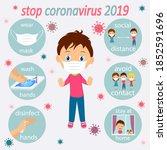 coronavirus 19 prevention...   Shutterstock .eps vector #1852591696