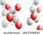 celebrations banner with red... | Shutterstock . vector #1852598830
