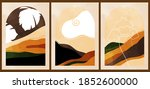 a set of three colorful... | Shutterstock .eps vector #1852600000