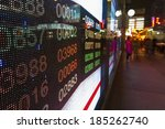 hong kong stock market price... | Shutterstock . vector #185262740