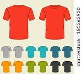 Set Of Templates Colored T...