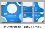 dentist social media post... | Shutterstock .eps vector #1852647469