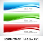 vector set of abstract banner | Shutterstock .eps vector #185269154
