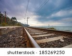 Railroad With Dramatic Sky Near ...