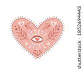 magical seeing heart clipart.... | Shutterstock .eps vector #1852694443