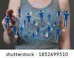 digital network and data...   Shutterstock . vector #1852699510