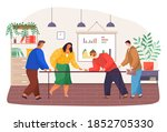 conference  business meeting ... | Shutterstock .eps vector #1852705330