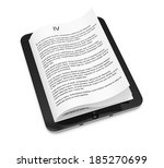 tablet computer with pages... | Shutterstock . vector #185270699