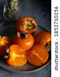 Slices Of Fresh Persimmon....