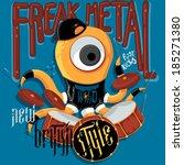 drummer octopus | Shutterstock .eps vector #185271380