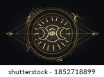 moon magic. triple moon pagan... | Shutterstock .eps vector #1852718899