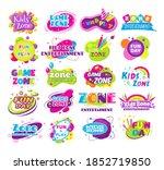 kids zone fun day entertainment ... | Shutterstock .eps vector #1852719850