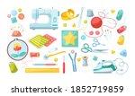 needlework tools set. handmade... | Shutterstock .eps vector #1852719859