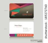 modern business card design... | Shutterstock .eps vector #185272760